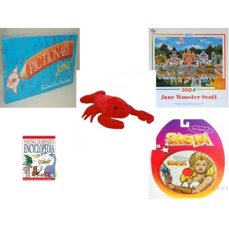 Children's Gift Bundle [5 Piece] -  Pictionary Junior The  of Quick Draw (1999) - Circus Pandemonium   - TY Beanie Buddy Pinchers The Lobster 15