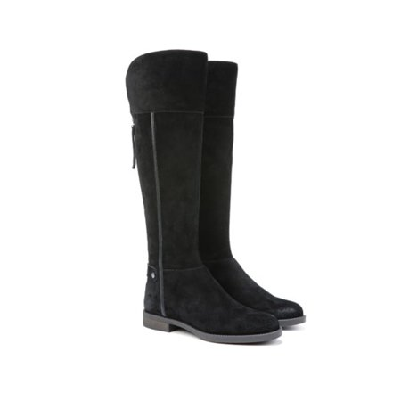 NEW Womens Franco Sarto Christine Suede Tall Shaft Boots Black Size 5 M WC