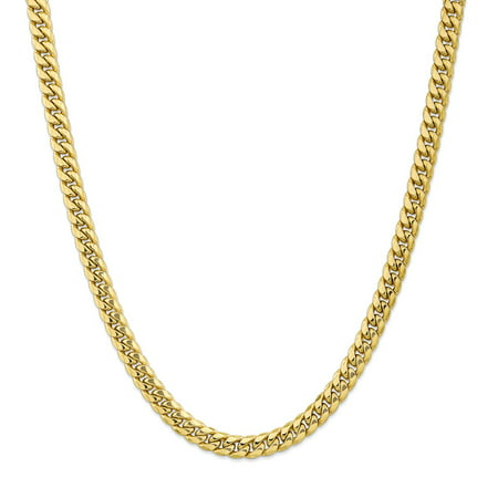 Solid 10k Yellow Gold Big Heavy 7.3 mm Miami Cuban Chain Necklace 20