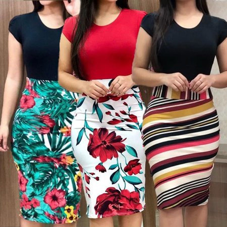 Women´s Sexy Bodycon Colorful Short Sleeve Evening Party Cocktail Club Short Mini Lady Dress Cocktail Evening Club Dress