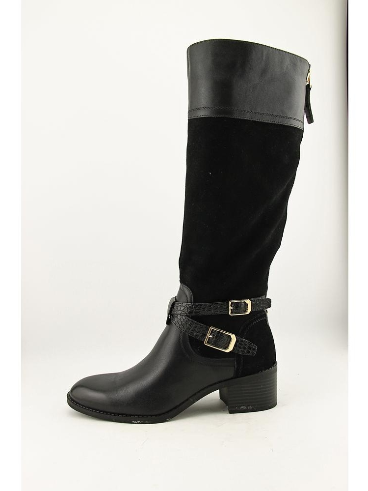 Franco Sarto lapis blk leather Women Round Toe Leather Black Knee High Boot by Franco Sarto