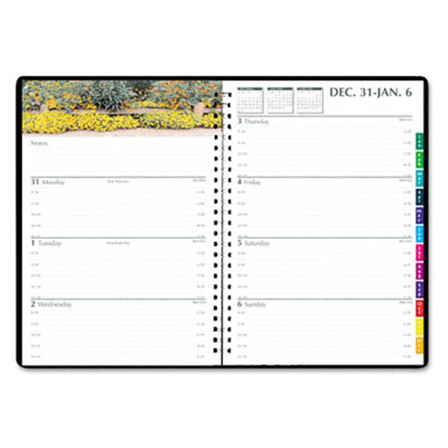 House Of Doolittle 294632 Gardens of the World Weekly/Monthly Planner  7 x 10  Black