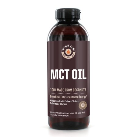 Rapid Fire MCT Oil Dietary Supplement, 16 Fl Oz, 30