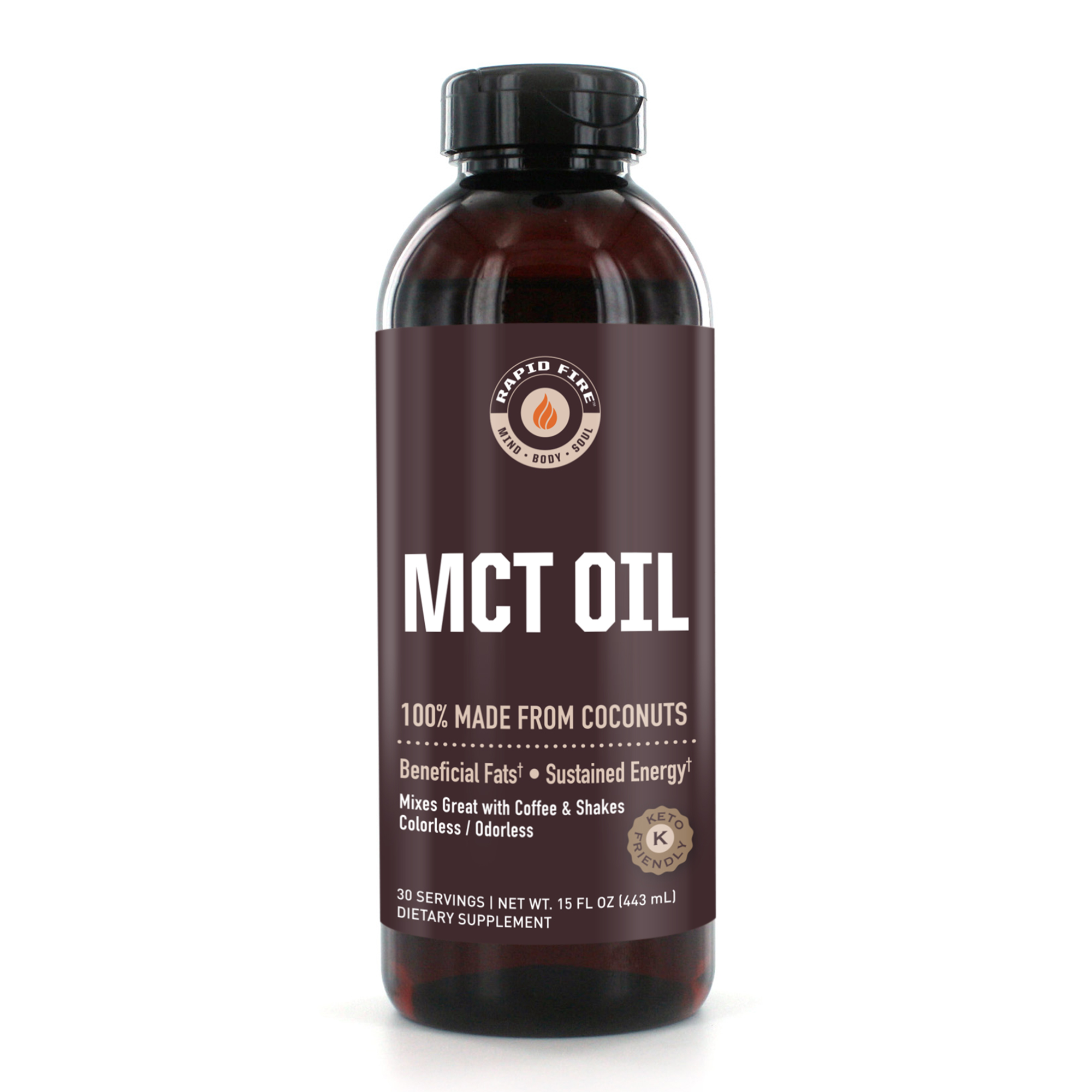 Rapid Fire MCT Oil Dietary Supplement, 16 Fl Oz, 30 Servings