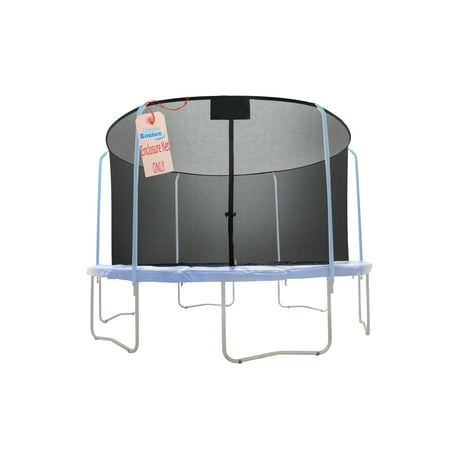Trampoline Replacement Net, Fits For 12' Round Frames, Using 6 Curved Poles With Top Ring Enclosure System -NET ONLY - image 1 of 1