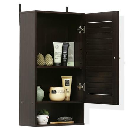 Furinno 16072EX Indo Wide Wall Cabinet, Espresso Color