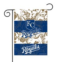 "Kansas City Royals Sparo 13"" x 18"" Double-Sided Garden Flag with Pole - No Size"