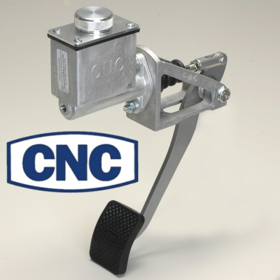 Cnc Silver Reverse Swinging Single Pedal Assembly Tall 5/8 Bore Master Cylinder For Clutch Or Brakes