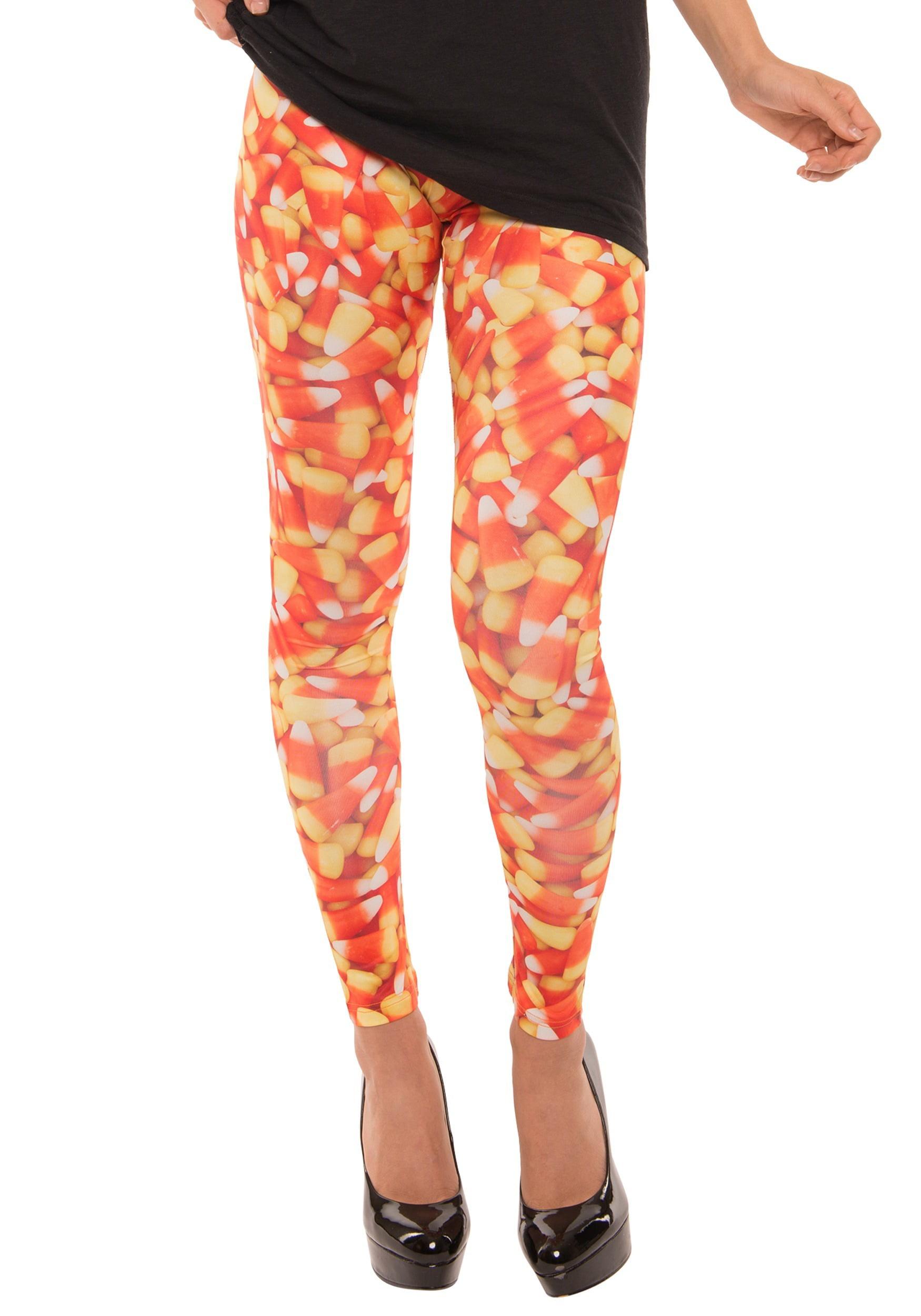 Womens Candy Corn Leggings