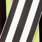 """Black and White Striped Woven Grosgrain Craft Ribbon 1.5"""" x 55 Yards"""