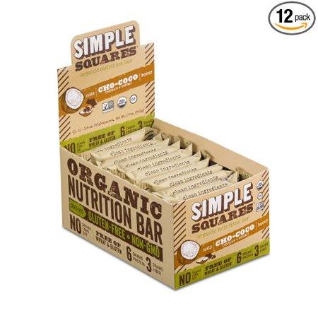 Simple Squares - Cho Coco(Nut & Honey)Bars 12/1.6 Oz