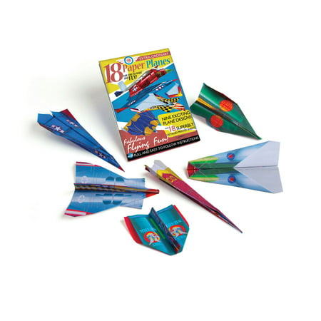Twirled Paper Kit - Paper Planes Craft Kit - 18 Paper Planes on Colorful Designed Paper with Instructions