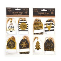 Black and Gold Christmas Hot Stamp Gift Tags by Holiday Essentials - Assorted