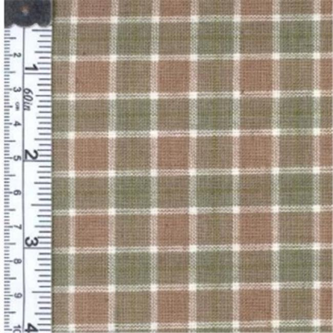 Textile Creations 1311 Rustic Woven Fabric, Plaid Sage And White, 15 yd.