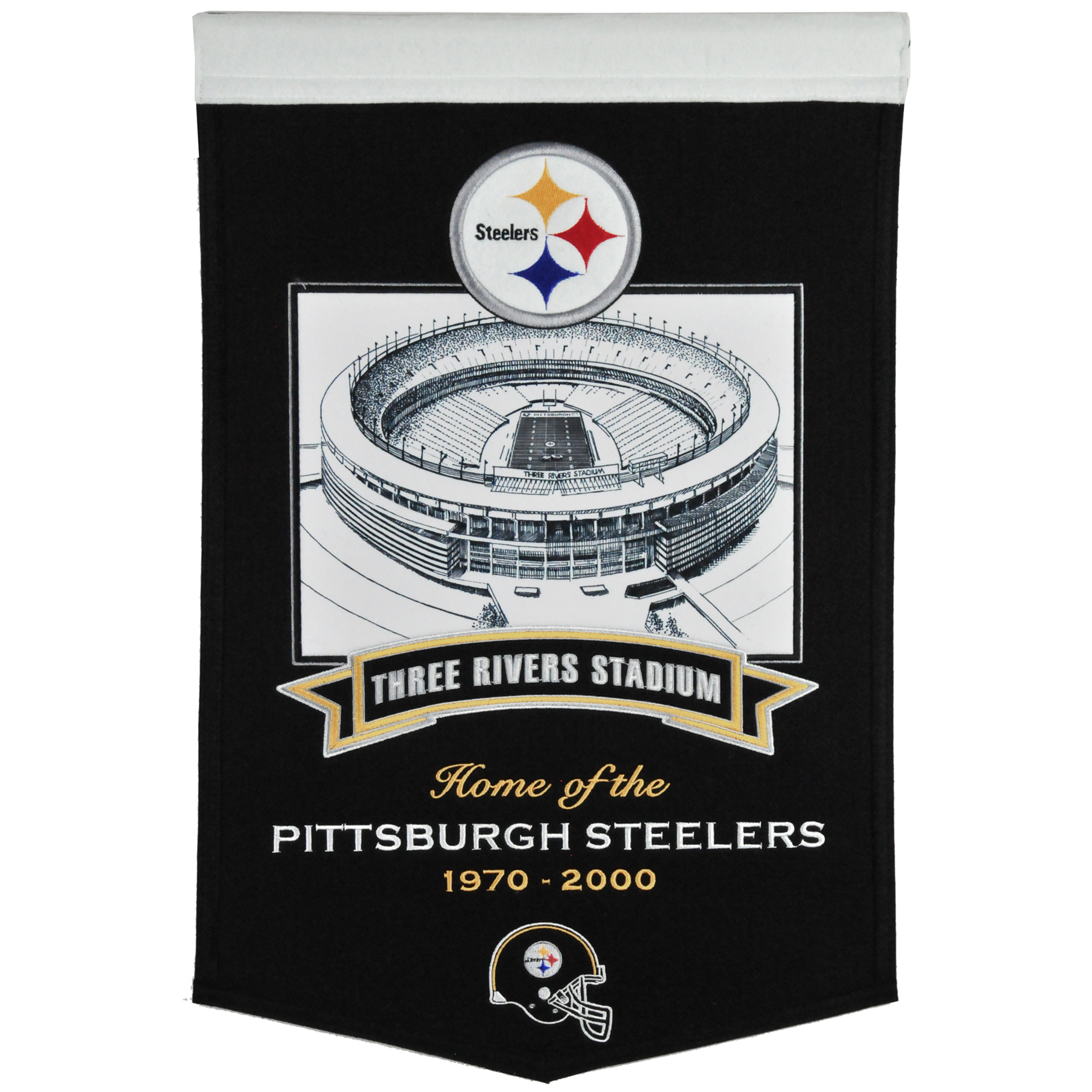 """Pittsburgh Steelers 15"""" x 24"""" Field Banner - No Size"""