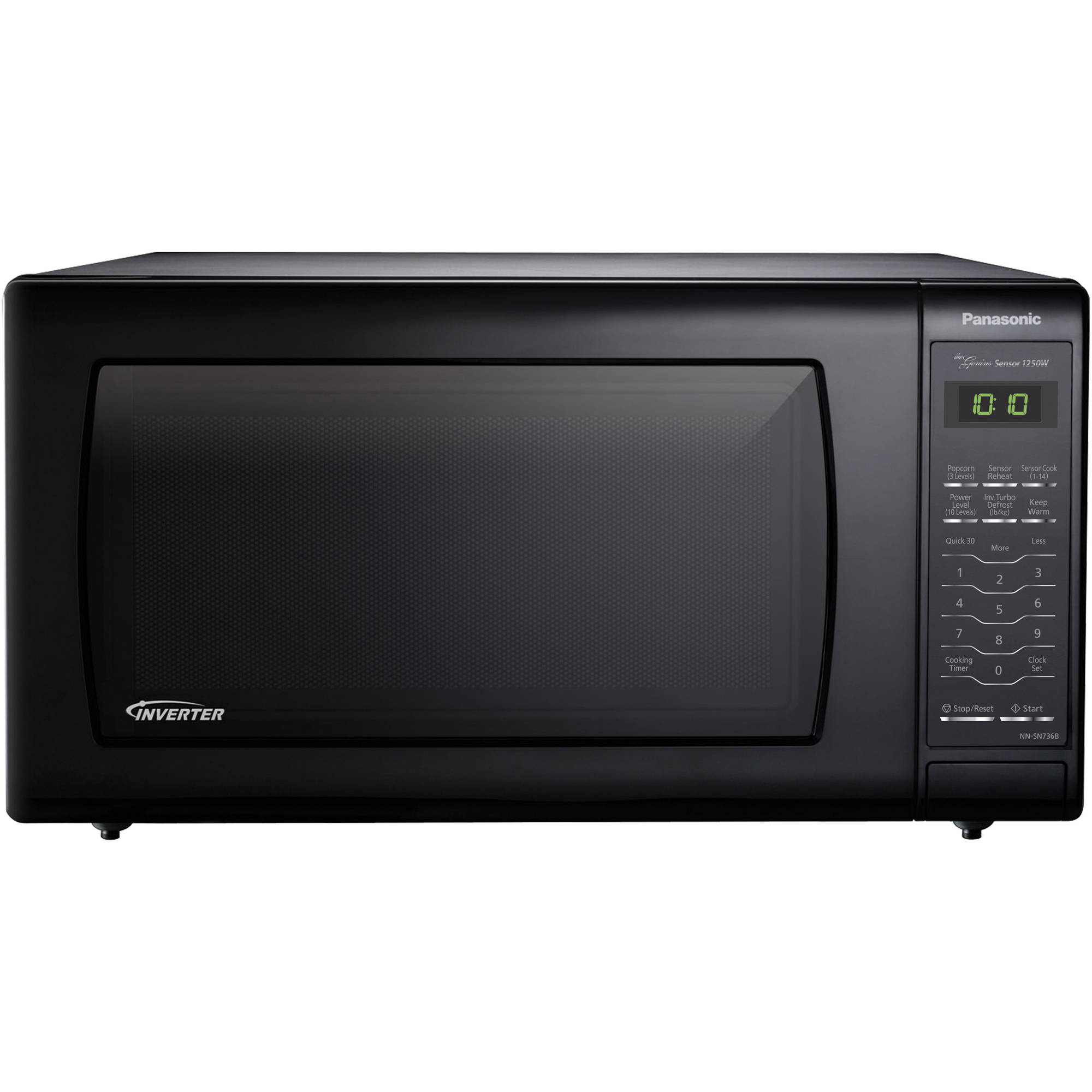 Panasonic 1.6 cu ft Microwave Oven, Black