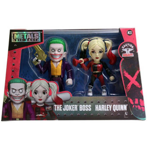 "Metals Suicide Squad 4"" DC Figure Twin Pack, Joker and Harley Quinn"