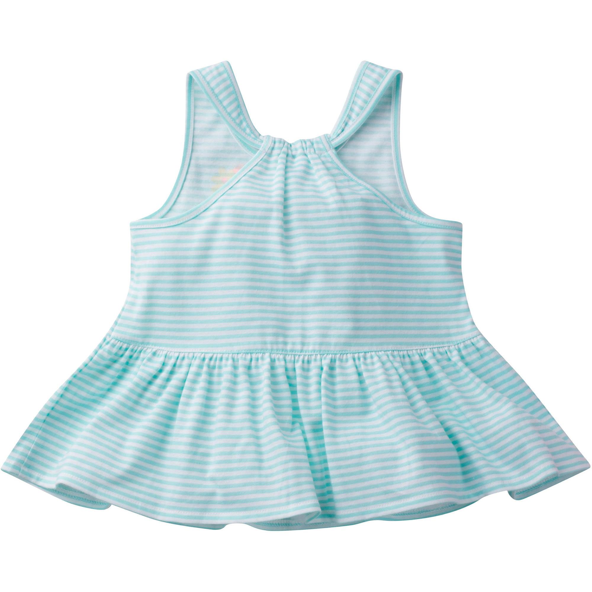 Graduates Baby Toddler Girl Sleeveless Tunic Shirt with Ruffle