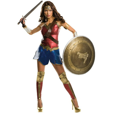 Batman v Superman: Dawn of Justice - Wonder Woman Grand Heritage Women's Adult Halloween Costume](Superman And Wonderwoman Costumes)
