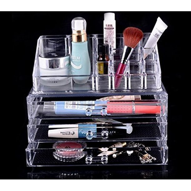 3 Drawers Clear Acrylic Makeup Icebox