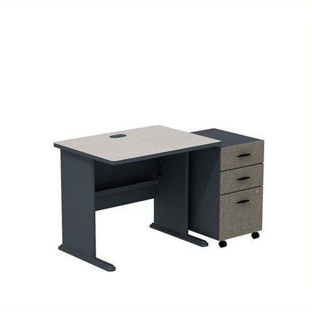 "Bush Business Series A 36"" Desk with Mobile File Cabinet in Slate - image 1 de 1"