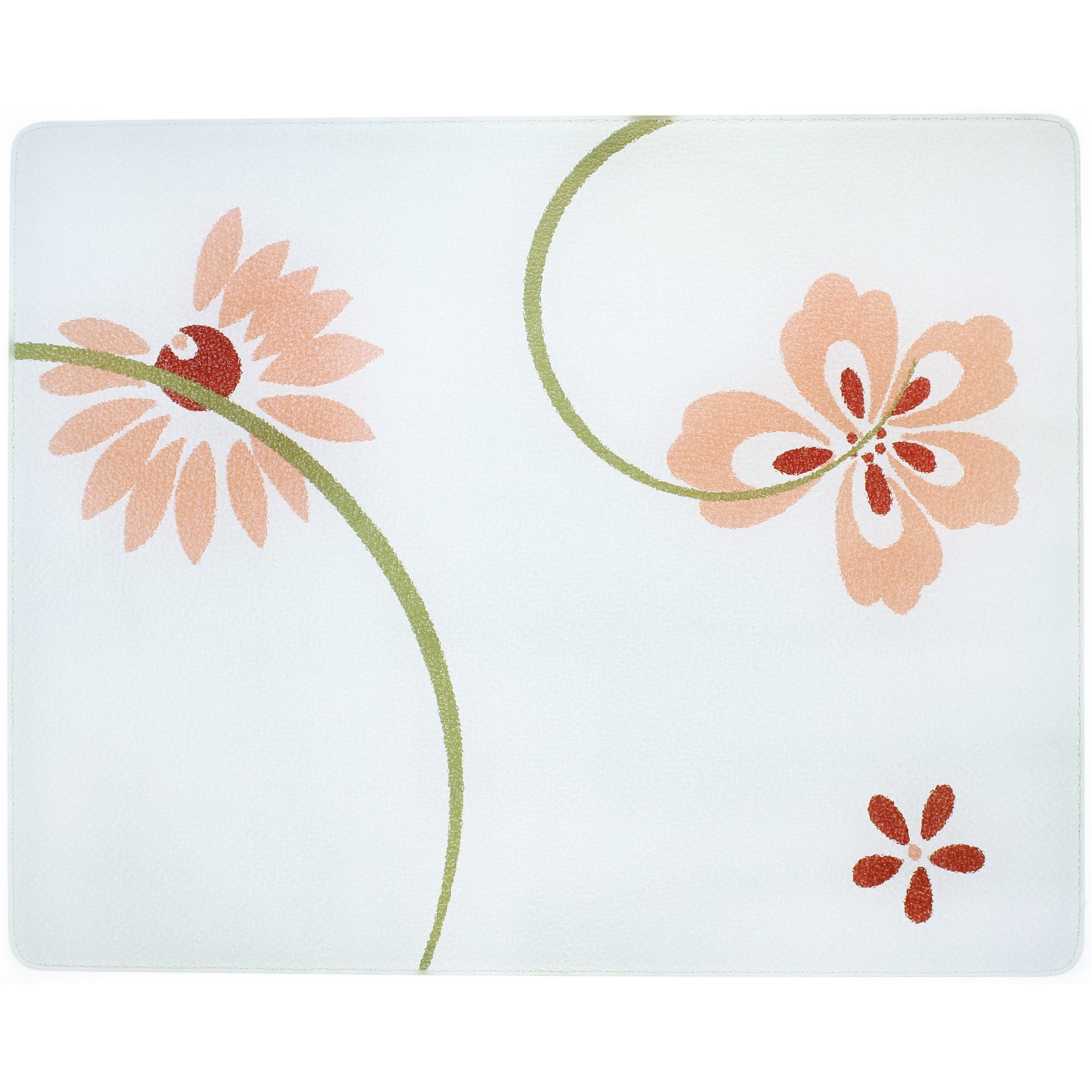 Corelle Pretty Pink 15 X 12 inch Counter Saver Tempered Glass Cutting Board, 91512PPH