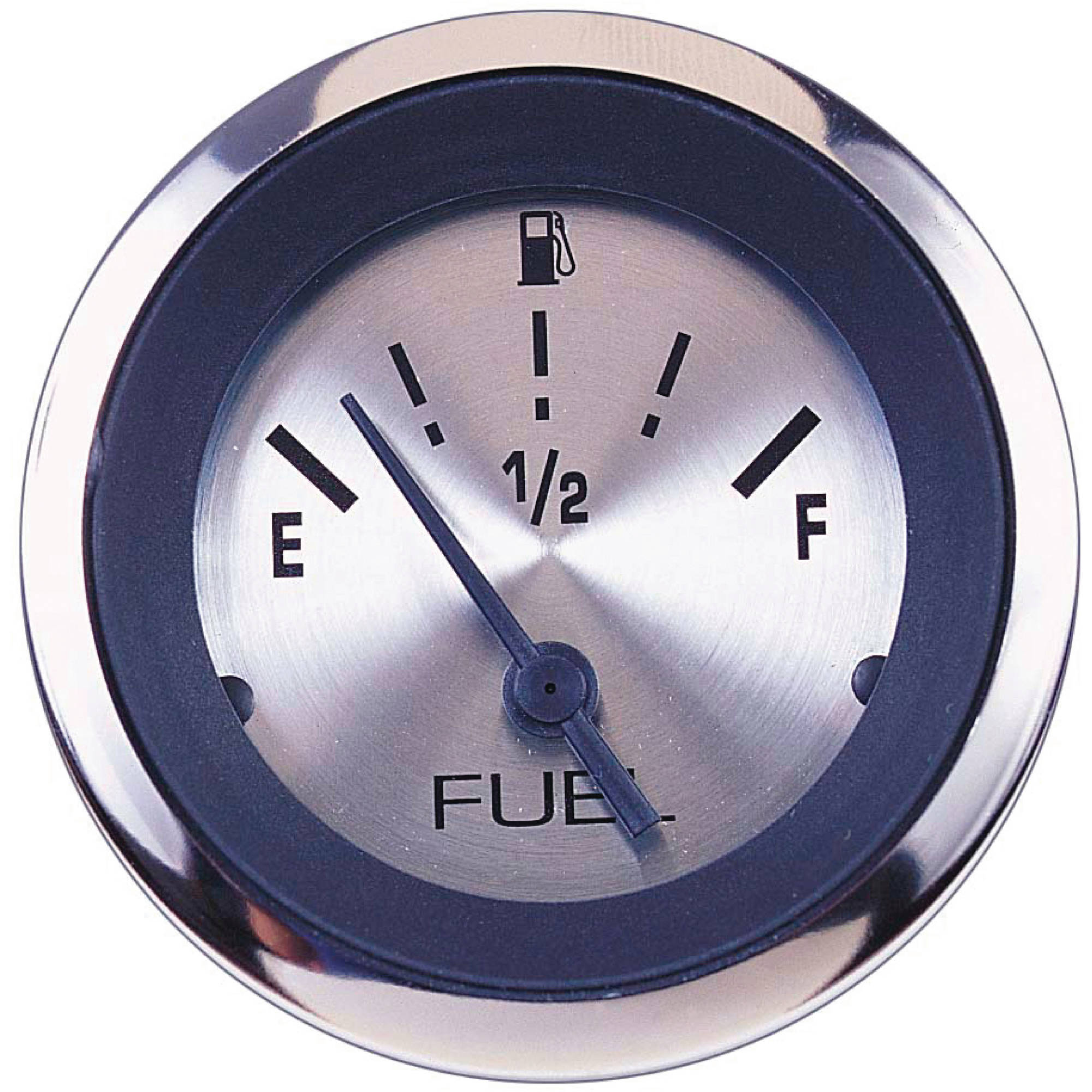 "Sierra 63477P Sterling Series 2"" Stainless Steel Fuel Gauge and Requires ""F"" Sender Code"