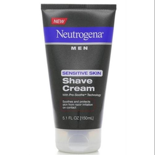 Neutrogena Men Sensitive Skin Shave Cream 5.10 oz (Pack of 4)