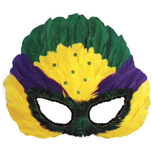 Sequin Feather Mardi Gras Mask Adult Accessory