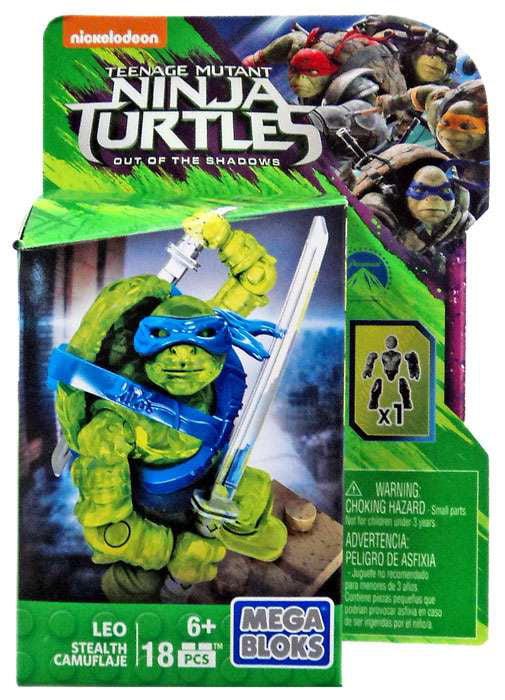Leo Set Mega Bloks DPW13 Stealth Teenage Mutant Ninja Turtles by