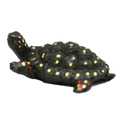 Black Colored Yellow Spotted Turtle Figure