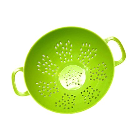 Reactionnx 6-inch Mini Colander with Double Handles and Deep Bowl, Green, 1-pack
