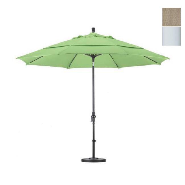 California Umbrella GSCUF118170-F22-DWV 11 Fiberglass Market Umbrella Collar Tilt DV Matted White-Olefin-Antique Beige