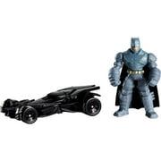 Hot Wheels Batman v Superman Mini Armored Batman Figure & Batmobile