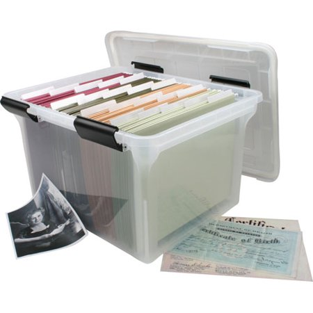 IRIS USA, Inc. 32 Quart WEATHERTIGHT Storage Box, Clear