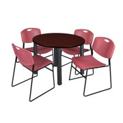 Regency Kee Round Table with 4 Zeng Chairs