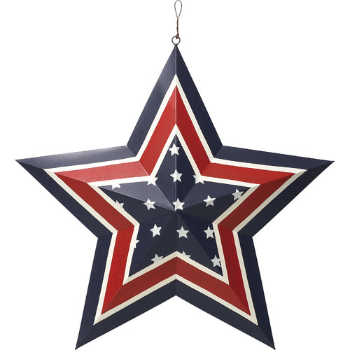 Transpac Americana Star Shaped Ornament