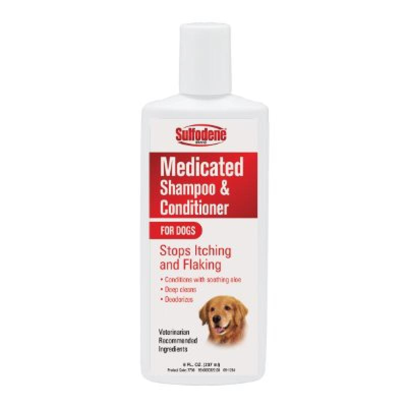 Sulfodene Medicated Shampoo & Conditioner for Dogs, 8 Oz