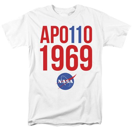 Trevco Sportswear NASA158-AT-1 NASA & 1969-Short Sleeve Adult 18-1 T-Shirt, White - Small - image 1 de 1