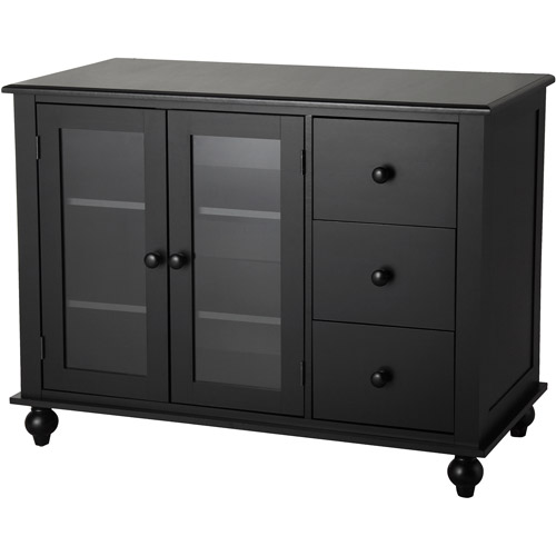 kitchen buffet storage cabinet better homes and gardens west ridge 3 drawer buffet black 5138