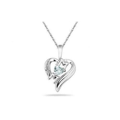 Szul Jewelry Heart Cut Gemstone Heart MOM Pendant