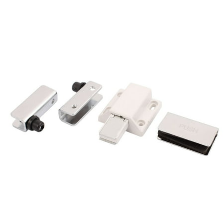 Glass Clip Clamp Cabinet Door Magnetic Catch Latch Set Walmart