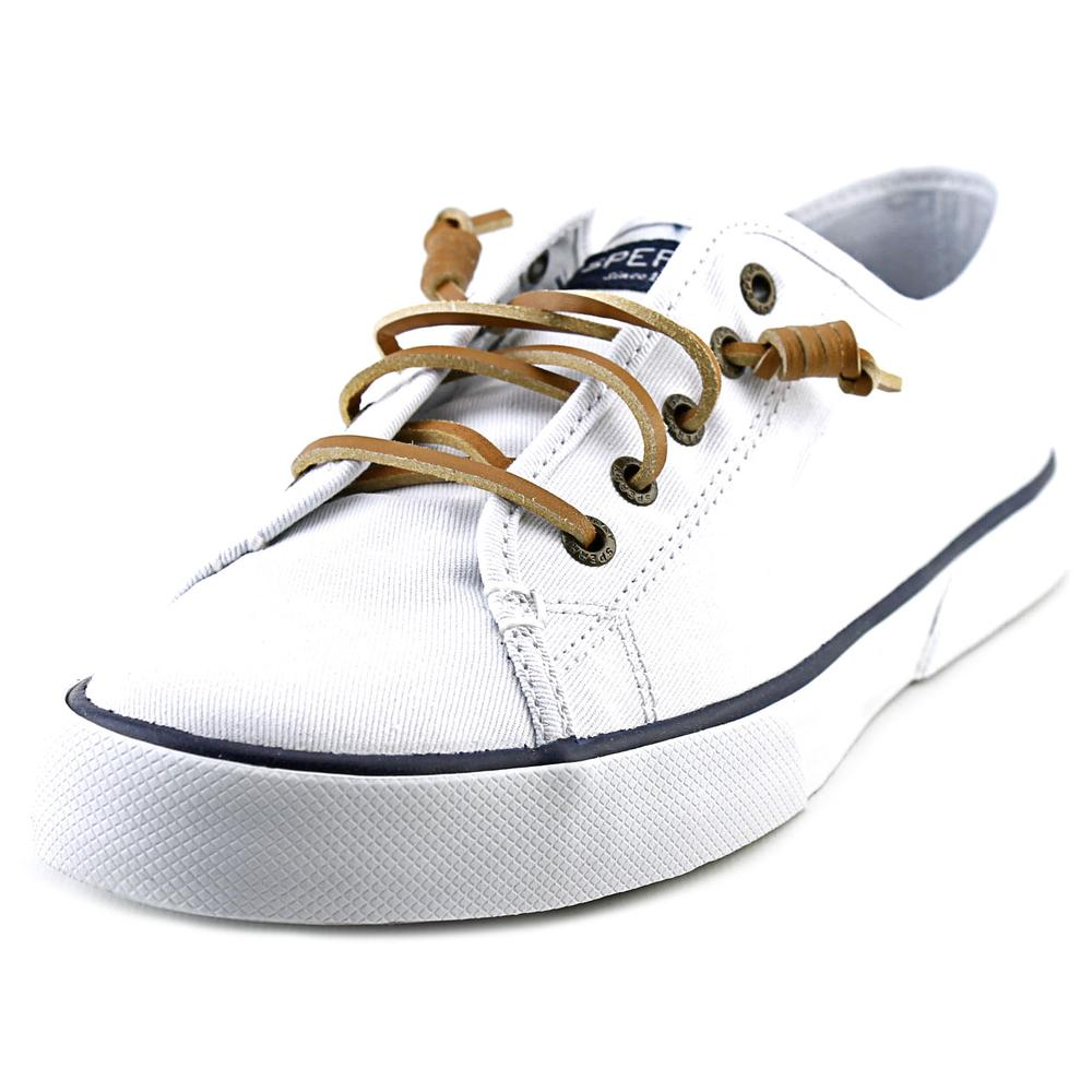Sperry Top Sider Pier  View Core Women   Pier Canvas White Fashion Sneakers 777da5
