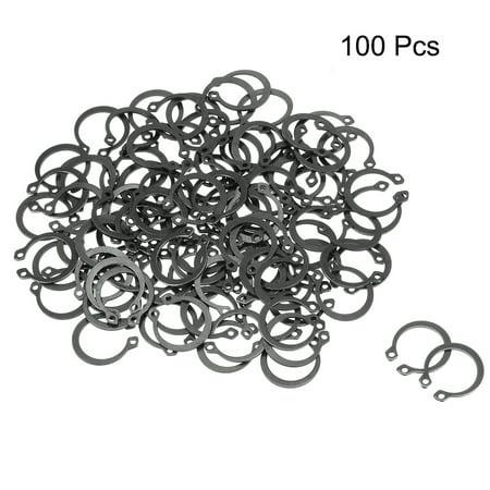 18.2mm External Circlips C-Clip Retaining Snap Rings 65Mn 100pcs - image 2 of 3