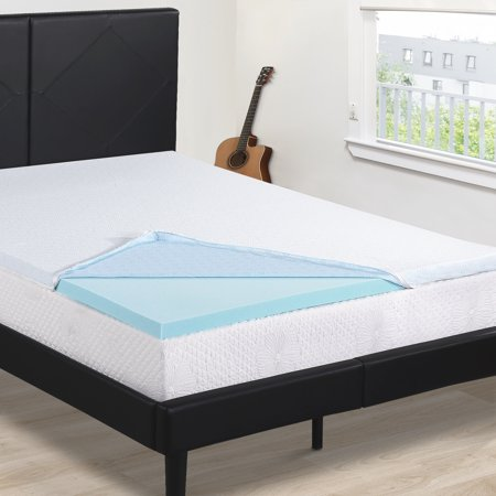 granrest 2 cool gel air flow memory foam mattress pad 88445