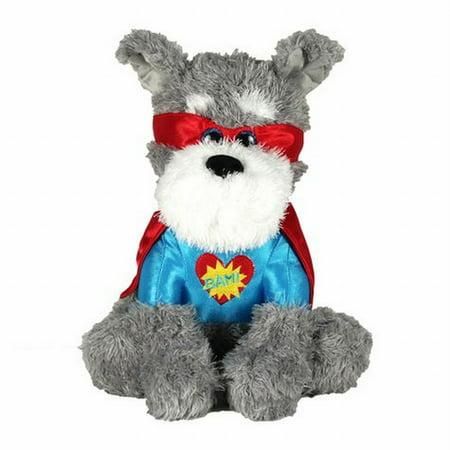 Valentines Day Super Hero Puppy Dog Stuffed Animal 13
