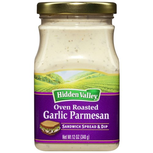 Hidden Valley Oven Roasted Garlic Parmesan Sandwich Spread & Dip, 12.0 OZ