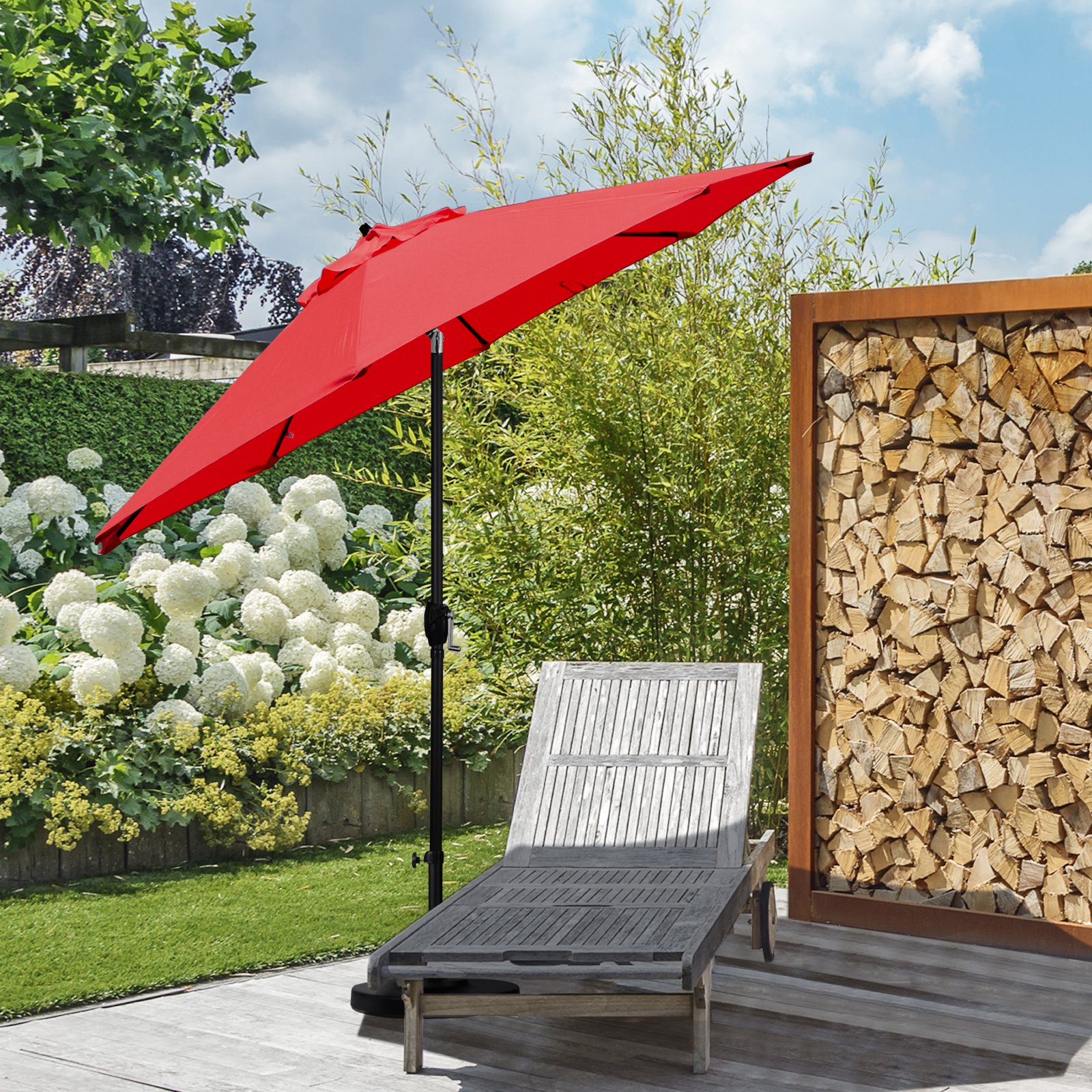 Astella 9 ft. Sunbrella Aluminum Market Patio Umbrella