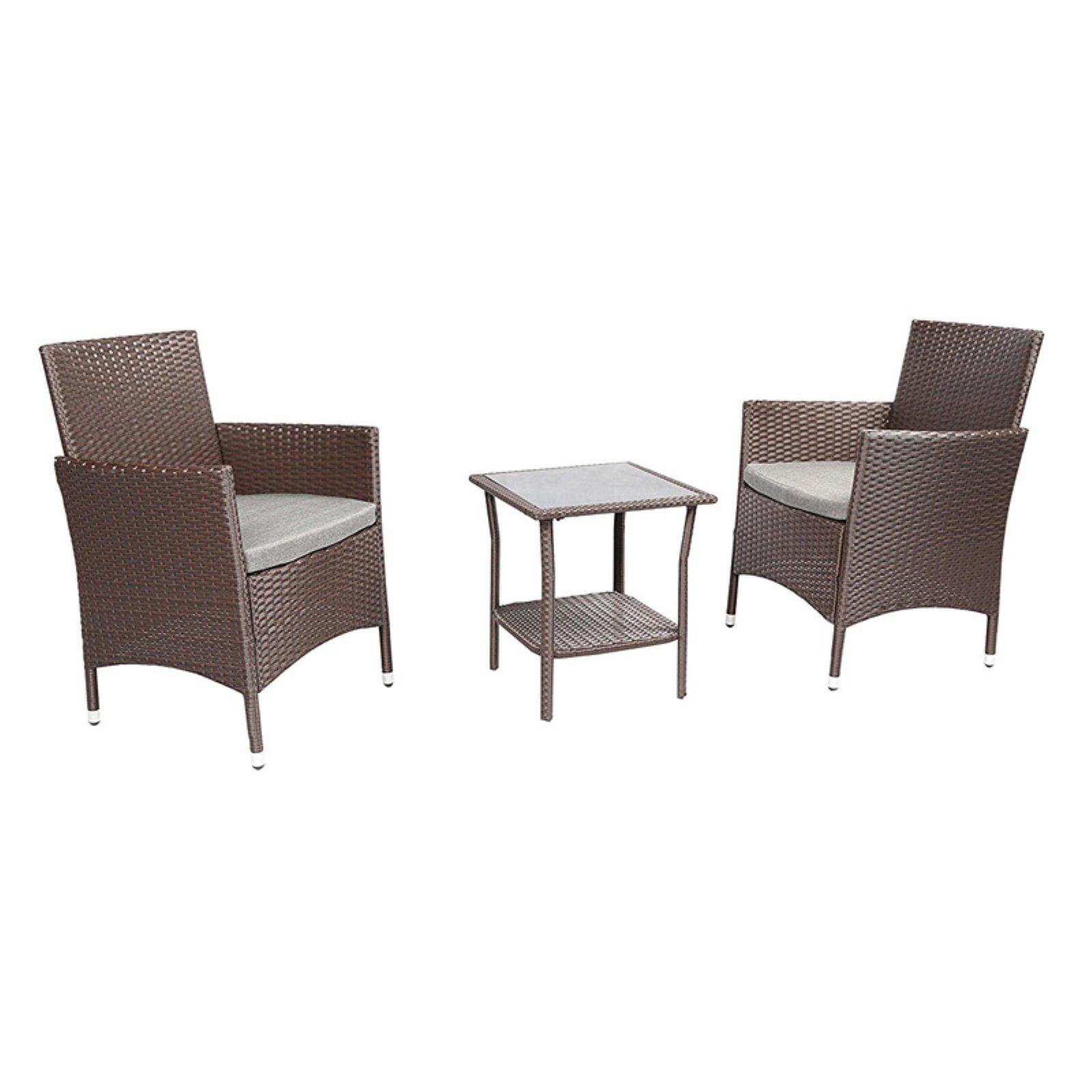 Baner Garden 3 Pieces Outdoor Furniture Complete Patio Wicker Rattan Conversation Set,... by Caesar Hardware