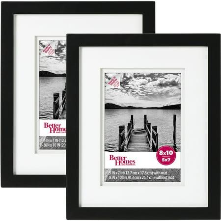Better Homes & Gardens Picture Frame Black, Set of 2, - Black Photo Frames